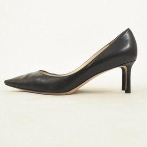 Jimmy Choo Black Matte Leather Pointy Toe Pumps
